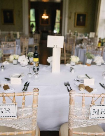 Ayrshire Wedding Venue Top Table Styling