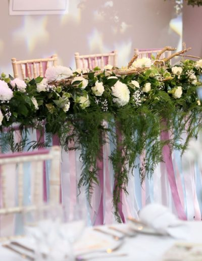 Derbyshire Wedding Top Table Stylist