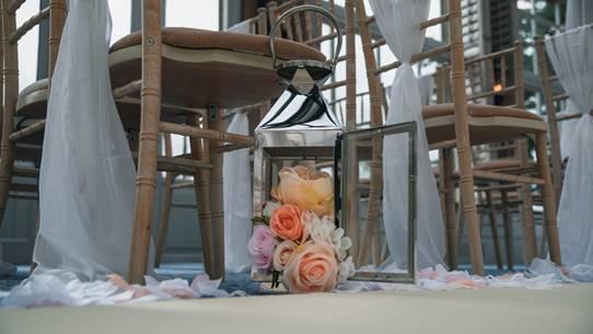 Silver-Lantern-Aisle-Decor-Rockliffe-Hall-Ambience-Venue-Styling-Teesside