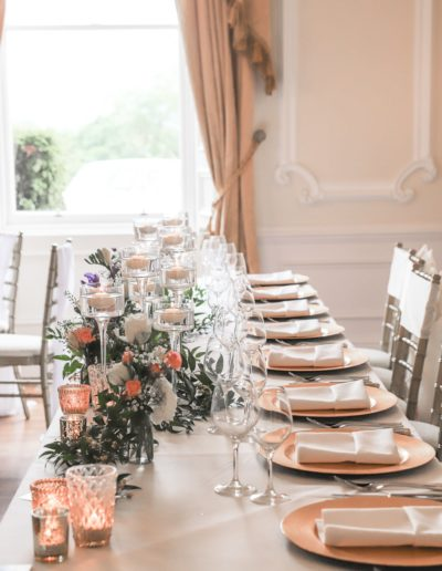 Teesside Wedding Venue Top Table Styling