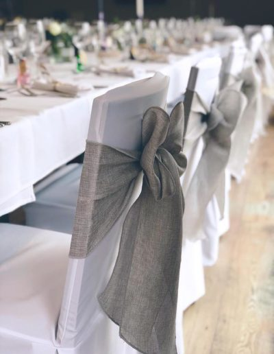 Chair Cover and Linen Sash - Ambience Venue Styling Bradford & Halifax