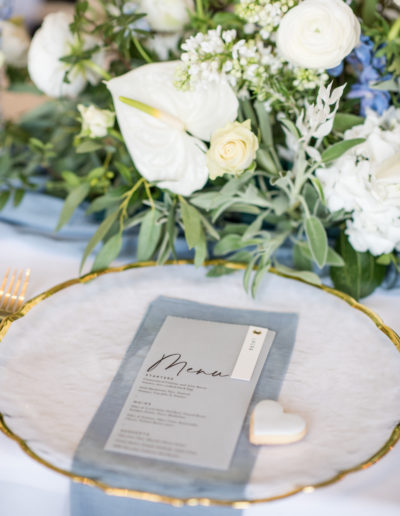 Charger Plate - Wedding Menu - Ambience Venue Styling York