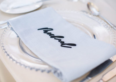 Dusty-Blue-Napkin-Place-Name-Calligraphy-Ambience-Venue-Styling-Harrogate