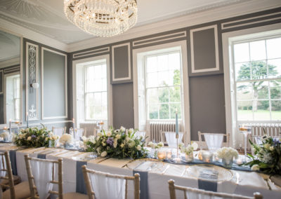 Dusty Blue and White Wedding - Foliage - Ambience Venue Styling York