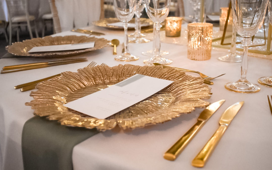 Adding Metallics to your Wedding Styling in 2021/22