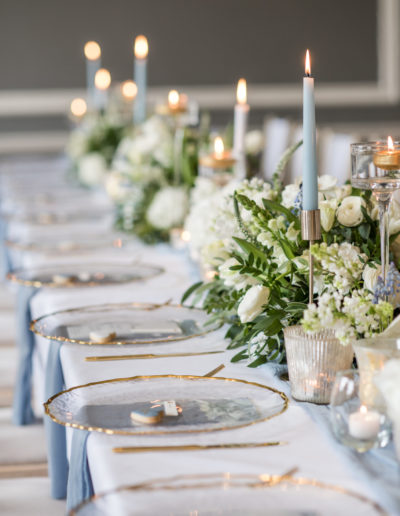Tablescape - Wedding Top Table - Charger Plates - Ambience Venue Styling York