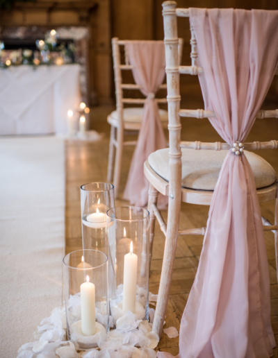 Blush Pink Aisle Decor Ambience Venue Styling UK