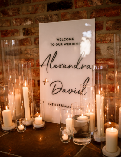 Candlelight Wedding Ambience Venue Styling UK