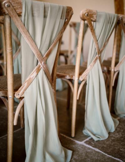 Chiffon Chair Decor Ambience Venue Styling UK