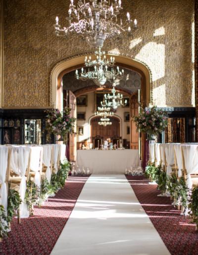 Wedding Ceremony Aisle Runner Ambience Venue Styling UK