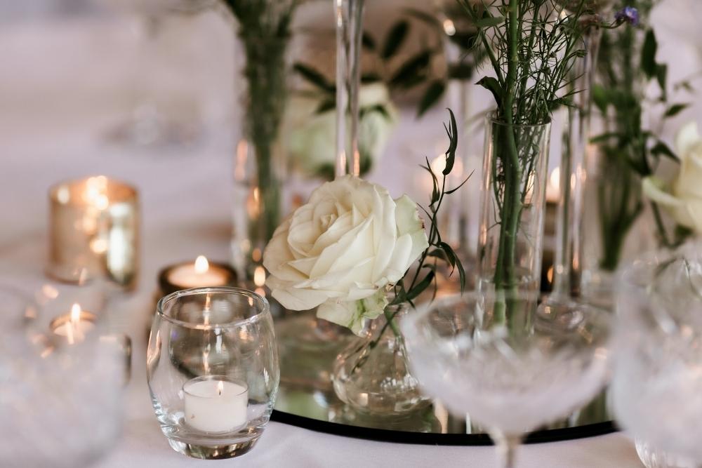 A luxurious wedding reception design