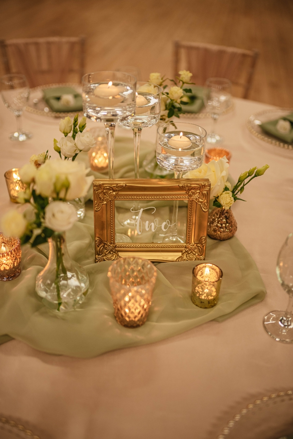 Wedding Centrepiece Ambience Venue Styling Teesside