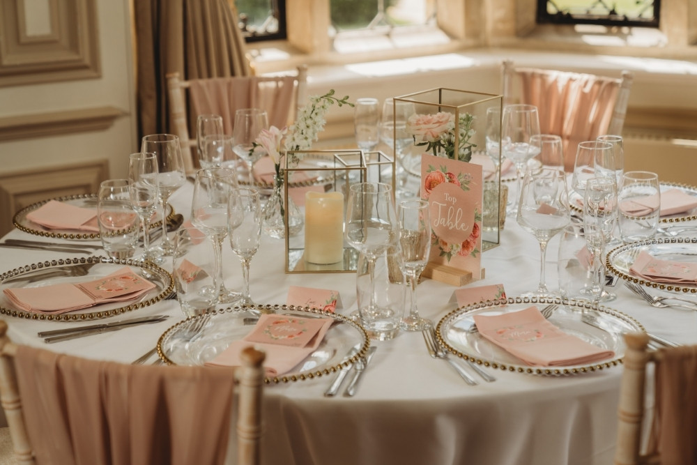 Table Centrepiece Ambience Venue Styling Milton Keynes